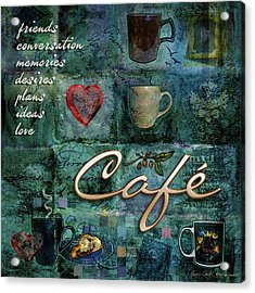 Cafe Acrylic Print by Evie Cook