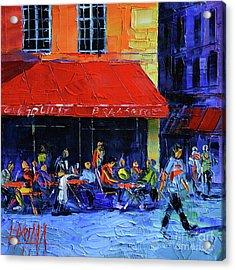 Cafe Gargouille Acrylic Print by Mona Edulesco