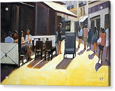 Cafe In Nice Acrylic Print