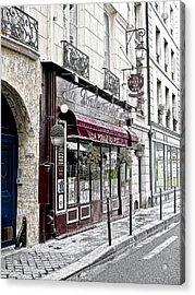 Cafe In Paris Acrylic Print by J Pruett