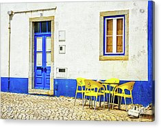 Acrylic Print featuring the photograph Cafe In Portugal by Marion McCristall