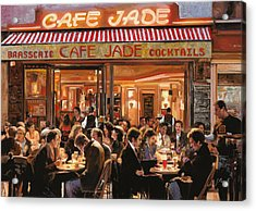 Cafe Jade Acrylic Print by Guido Borelli