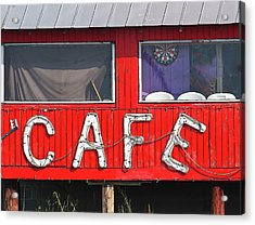 Acrylic Print featuring the photograph Cafe by John Hix
