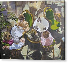 Cafe Acrylic Print by Julie Todd-Cundiff