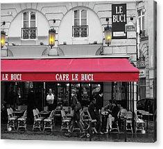 Cafe Le Buci Acrylic Print by Tom Reynen