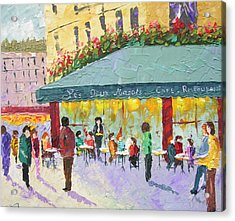 Cafe Les Deux Magots Paris France Acrylic Print