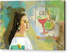 Cafe Ole Girl Acrylic Print