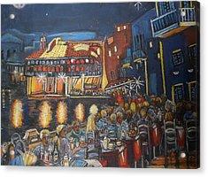 Cafe Scene At Night Acrylic Print