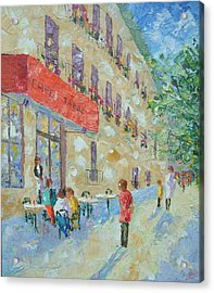Cafe St Germain Paris France Acrylic Print