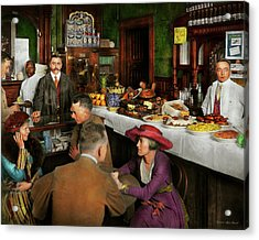 Acrylic Print featuring the photograph Cafe - Temptations 1915 by Mike Savad