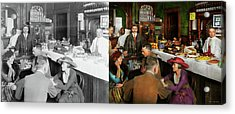 Acrylic Print featuring the photograph Cafe - Temptations 1915 - Side By Side by Mike Savad