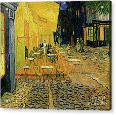Cafe Terrace, Place Du Forum, Arles, 1888  Detail Acrylic Print by Vincent Van Gogh