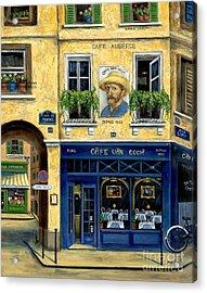Cafe Van Gogh Acrylic Print by Marilyn Dunlap