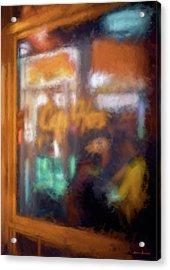 Cafe Window Acrylic Print by Glenn Gemmell