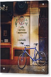 Caffe Expresso Bicycle Acrylic Print