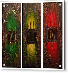 Acrylic Print featuring the painting Caged 2 by Patricia Lintner