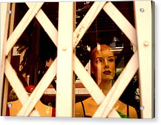 Caged For Lunch Acrylic Print by Jez C Self