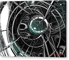 Caged Acrylic Print by Michael Burleigh