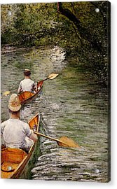 Caillebotte Gustave Perissoires Aka The Canoes Acrylic Print
