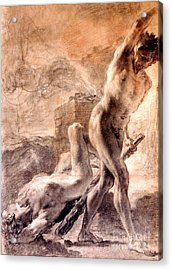 Acrylic Print featuring the painting Cain And Abel by Pg Reproductions