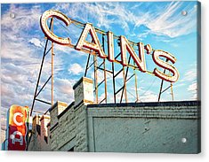 Acrylic Print featuring the photograph Cains Ballroom Music Hall - Downtown Tulsa Cityscape by Gregory Ballos
