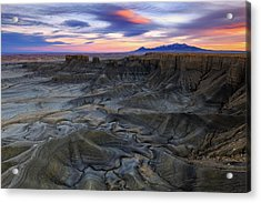 Acrylic Print featuring the photograph Cainville Badlands by Johnny Adolphson