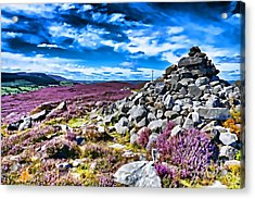 Cairn And Heather Acrylic Print
