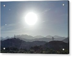 Cajon Pass Sunset Acrylic Print by Karen J Shine