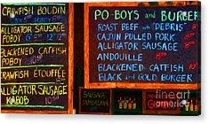 Cajun Menu Alligator Sausage Poboy - 20130119 Acrylic Print