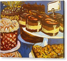 Cake Case Acrylic Print by Tilly Strauss