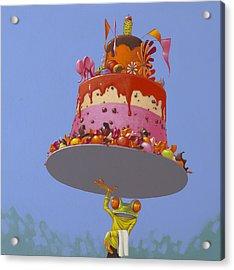 Cake Acrylic Print by Jasper Oostland