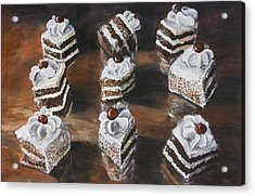 Cake Acrylic Print by Nik Helbig