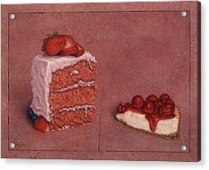 Cakefrontation Acrylic Print