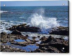 Wave Crashing On California Coast Acrylic Print