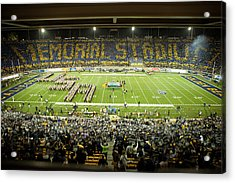 Cal Memorial Stadium On Game Day Acrylic Print by Replay Photos