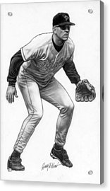 Cal Ripken Acrylic Print by Harry West