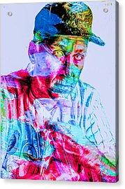 Cal Ripken Jr Baltimore Oriole Painted Digitally Acrylic Print by David Haskett