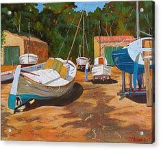 Cala Figuera Boatyard - I Acrylic Print