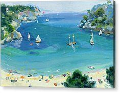 Cala Galdana - Minorca Acrylic Print by Anne Durham