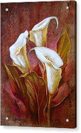 Cala Lillies Bouquet Acrylic Print
