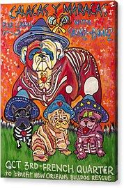 Calacas Y Maracas Acrylic Print by Mardi Claw