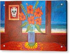 Calavera In Paradise Acrylic Print