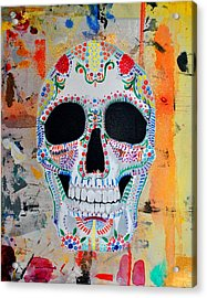 Acrylic Print featuring the painting Calavera by Josean Rivera
