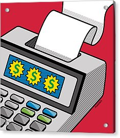 Acrylic Print featuring the digital art Printing Calculator by Ron Magnes
