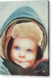 Caleb Acrylic Print by Marilyn Jacobson