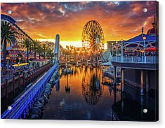 Calfornia Sunset Acrylic Print