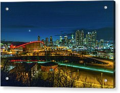 Acrylic Print featuring the photograph Calgary At Twilight by Josef Pittner