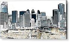 Acrylic Print featuring the digital art Calgary Skyline 1 by Stuart Turnbull