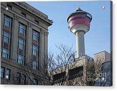 Acrylic Print featuring the photograph Calgary Tower by Wilko Van de Kamp