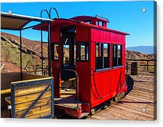 Calico Caboose Acrylic Print by Garry Gay